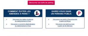 carte parking Paris